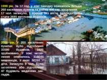 1998 рік. За 12 год. у зоні паводку опинилось більше 260 населених пунктів та...