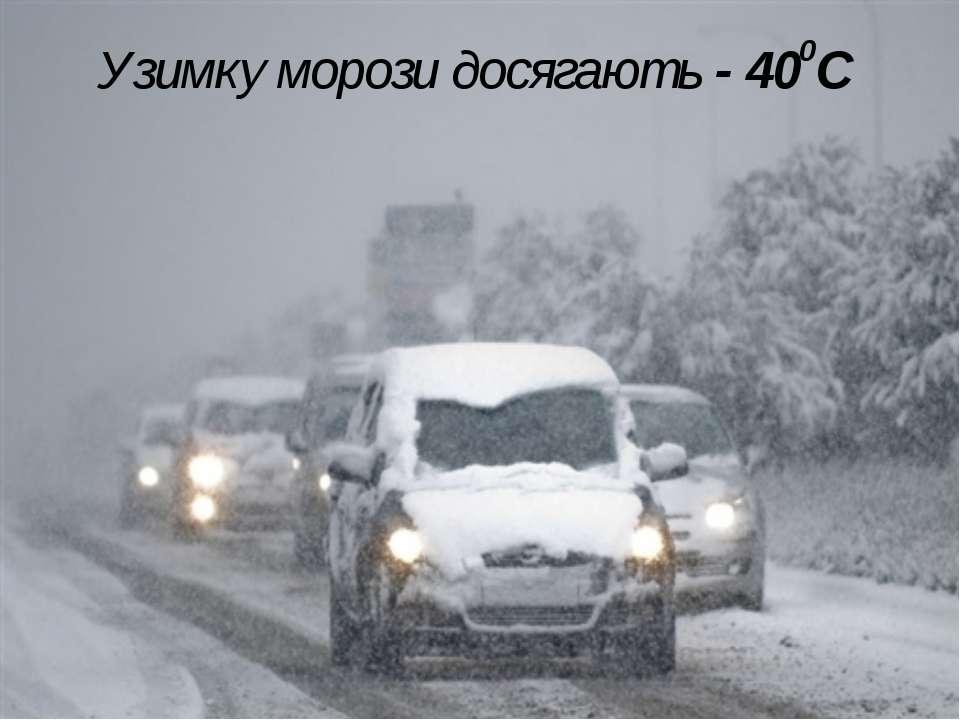 Узимку морози досягають - 400С