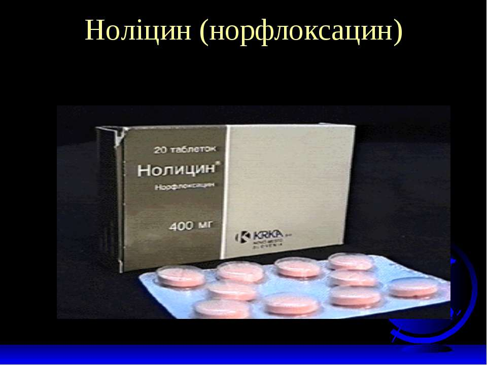 Ноліцин (норфлоксацин)
