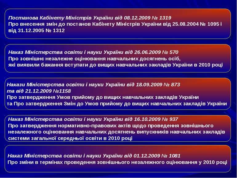 Наказ Міністерства освіти і науки України від 26.06.2009 № 570 Про зовнішнє...