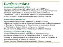 Емпірична база Моніторинг поведінки СІН (RDS): опитування проводилося з 8 чер...