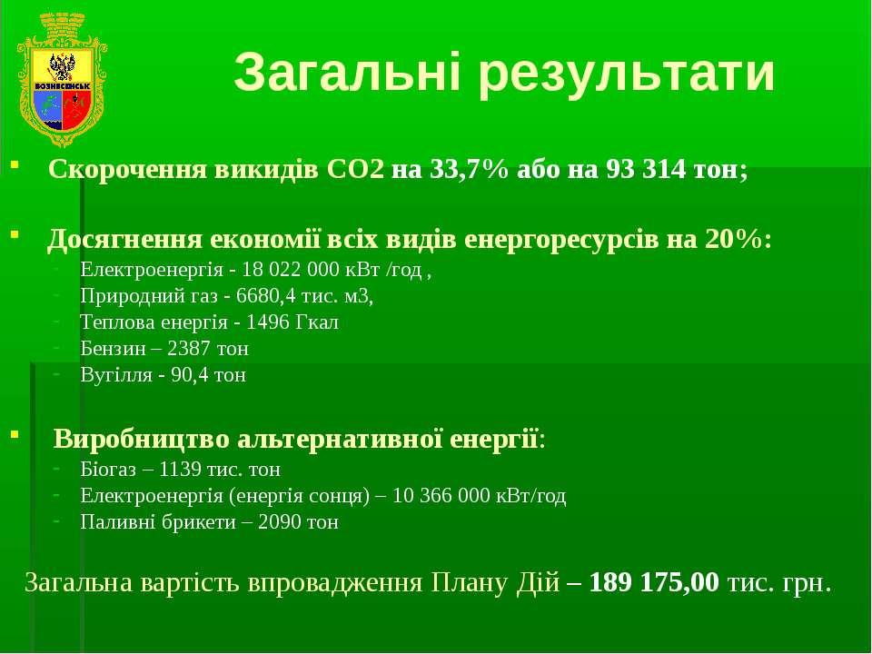 Скорочення викидів СО2 на 33,7% або на 93 314 тон; Досягнення економії всіх в...