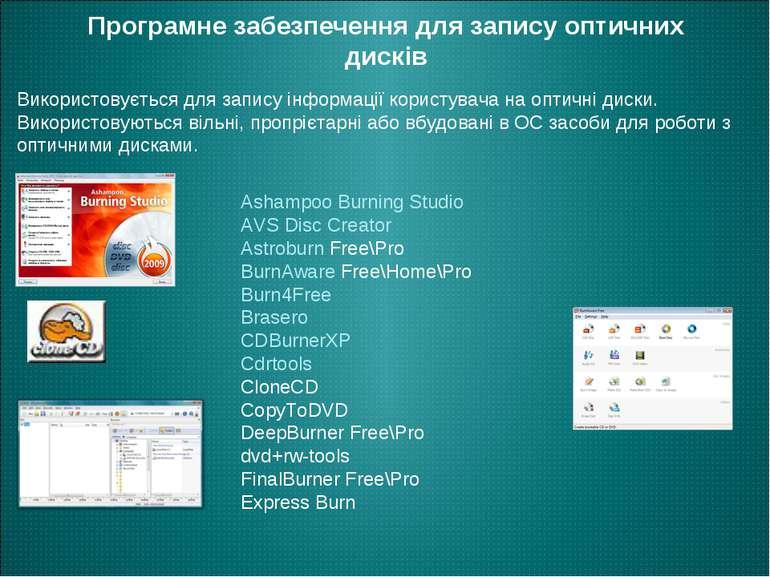 Програмне забезпечення для запису оптичних дисків Ashampoo Burning Studio AVS...