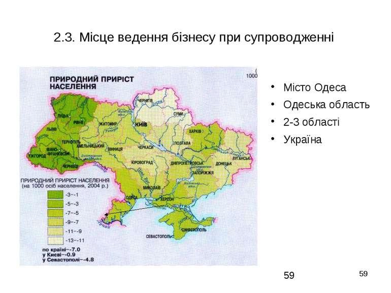 * 2.3. Місце ведення бізнесу при супроводженні Місто Одеса Одеська область 2-...