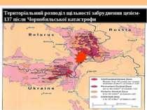 Територіальний розподіл щільності забруднення цезієм-137 після Чорнобильської...