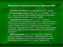 Орієнтована система виховання у Давньому Римі Сімейне виховання (від народжен...