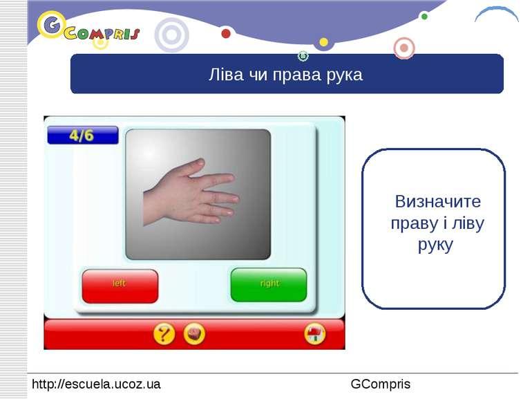 Ліва чи права рука Визначите праву і ліву руку LOGO