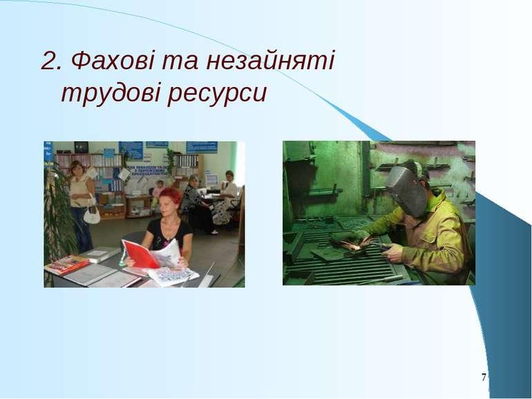 2. Фахові та незайняті трудові ресурси *