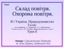 Склад повітря. Охорона повітря. Тема Я і Україна. Природознавство 3 клас за п...