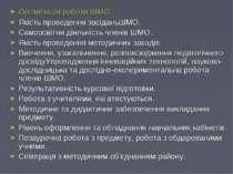 Організація роботи ШМО: Якість проведення засіданьШМО. Самоосвітня діяльність...