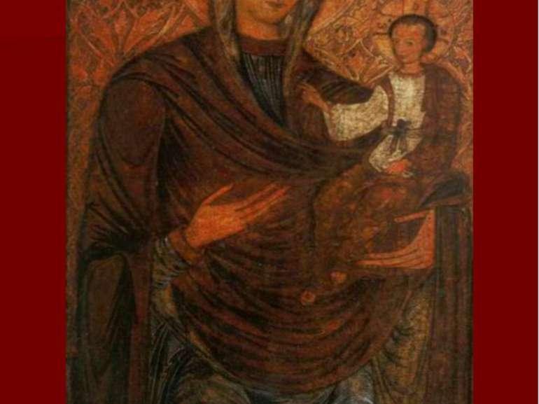 Богородиця Одигрія. Покровська церква с. Бобли Турійського р-ну, поч. XVII cт...