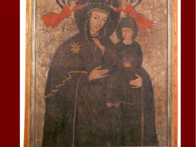 Богородиця з ангелами. с. Тростянець Ківерцівського р-ну, перша половина XVIІ...
