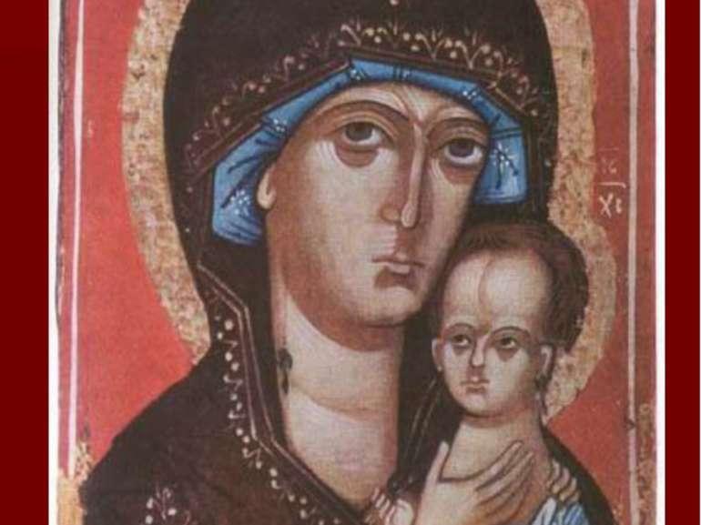 Богородиця Петрівська.Третьяковська галерея, Москва. (Новгородський повтор)