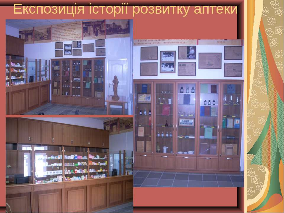Експозиція історії розвитку аптеки