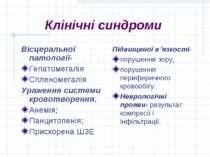 Клінічні синдроми Вісцеральної патології- Гепатомегалія Спленомегалія Ураженн...