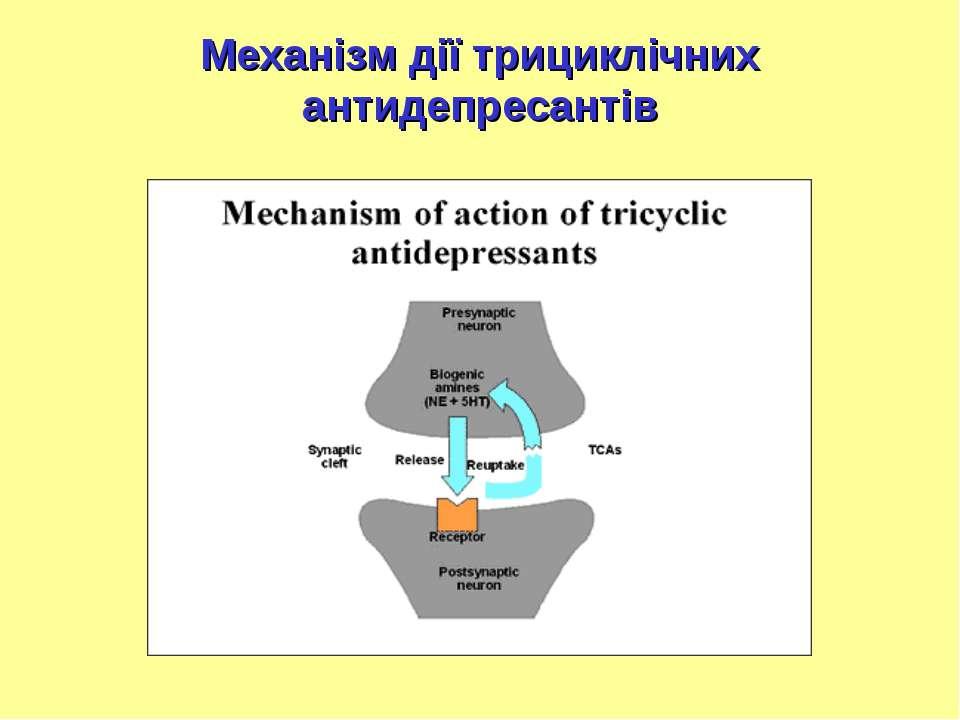 Механізм дії трициклічних антидепресантів