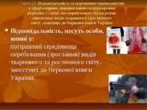 Стаття 20. Відповідальність за порушення законодавства у сфері охорони, викор...