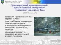 Державне агентство України з інвестицій та інновацій Транскордонний мультимод...