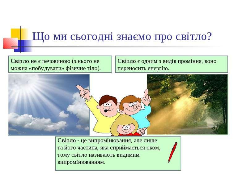 Що ми сьогодні знаємо про світло? Світло - це випромінювання, але лише та йог...