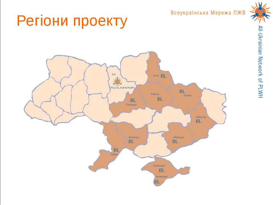 Регіони проекту