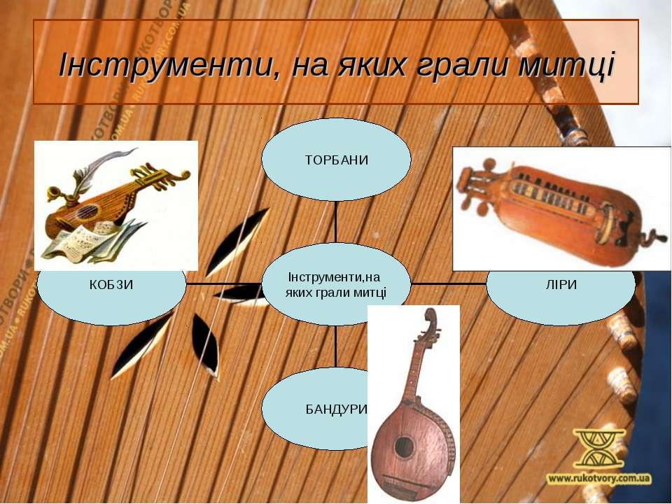 Інструменти, на яких грали митці