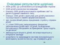 Очікувані результати щорічно 3500 дітей, що усиновлюються громадянами України...