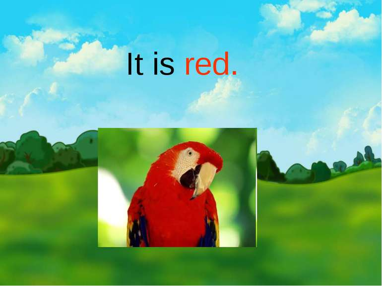 It is red.