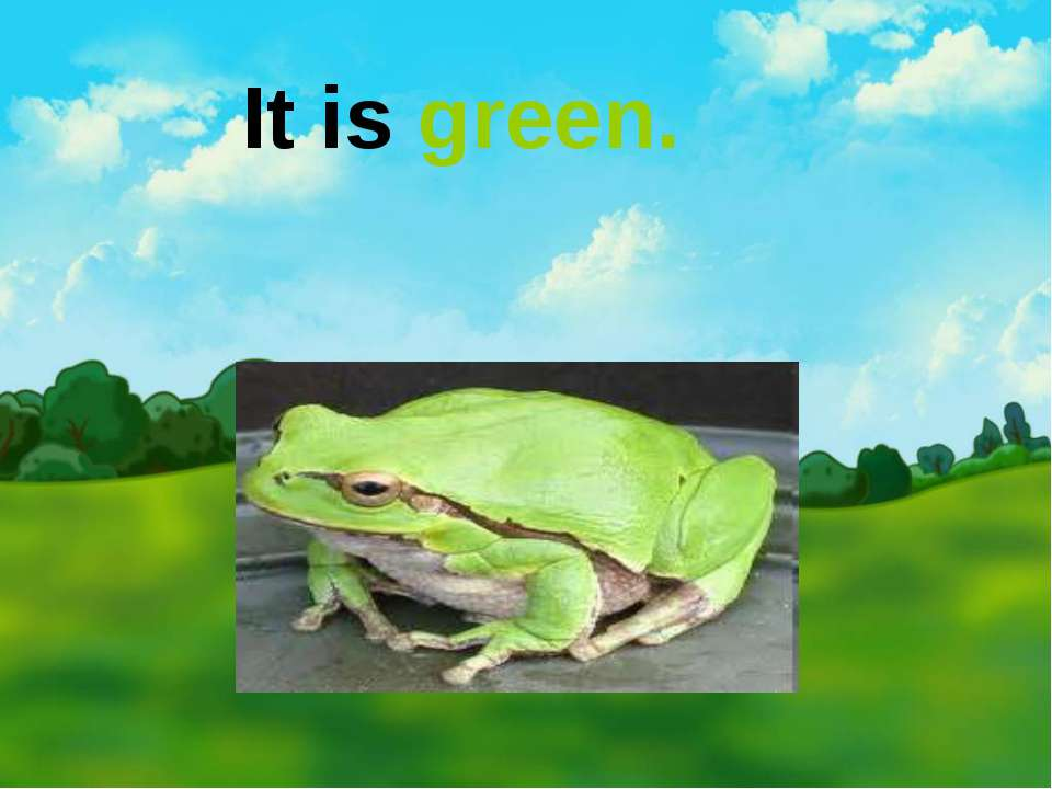 It is green.