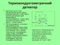 Термокондуктометричний детектор Детектор цього типу (катарометр) являє собою ...