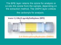 The BPE layer retains the ozone for analysis or scrubs the ozone from the sam...