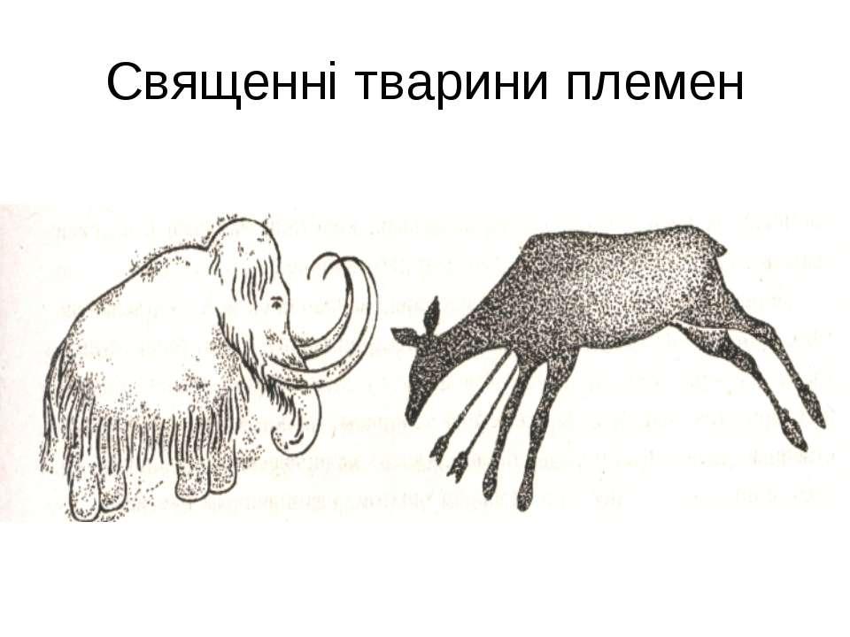 Священні тварини племен