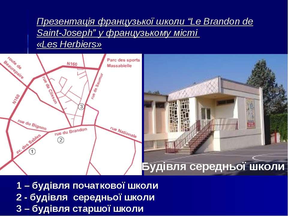 """Презентація французької школи """"Le Brandon de Saint-Joseph"""" у французькому міс..."""