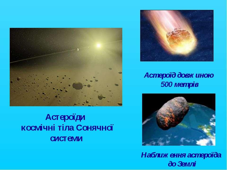 Астероїди космічні тіла Сонячної системи Наближення астероїда до Землі Астеро...