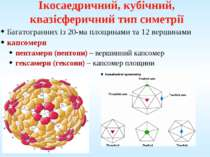 Ікосаедричний, кубічний, квазісферичний тип симетрії Багатогранних із 20-ма п...