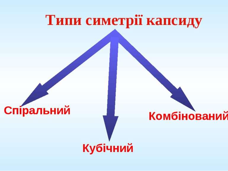 Типи симетрії капсиду Комбінований Кубічний Спіральний