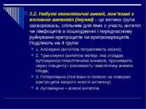 3.2. Набуті гемолітичні анемії, пов'язані з впливом антитіл (імунні) – це вел...