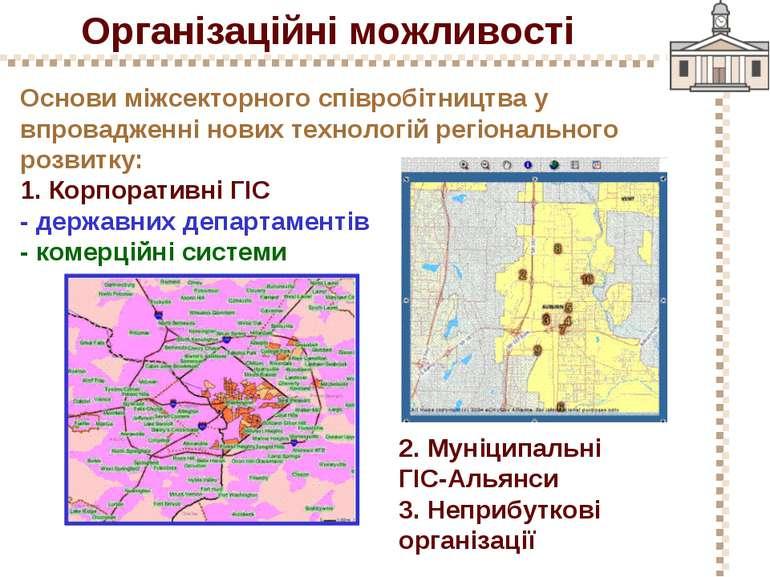 Організаційні можливості Основи міжсекторного співробітництва у впровадженні ...