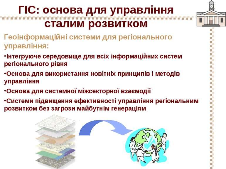 ГІС: основа для управління сталим розвитком Геоінформаційні системи для регіо...