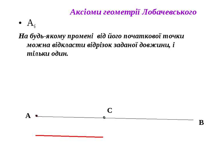 А6 На будь-якому промені від його початкової точки можна відкласти відрізок з...