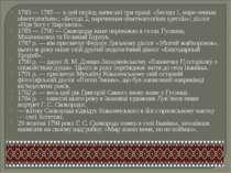1783 — 1785 — в цей період написані три праці: «Беседа 1, наре-ченная observa...