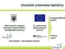 Основні учасники проекту Консорціум – виконавець проекту Міністерство аграрно...