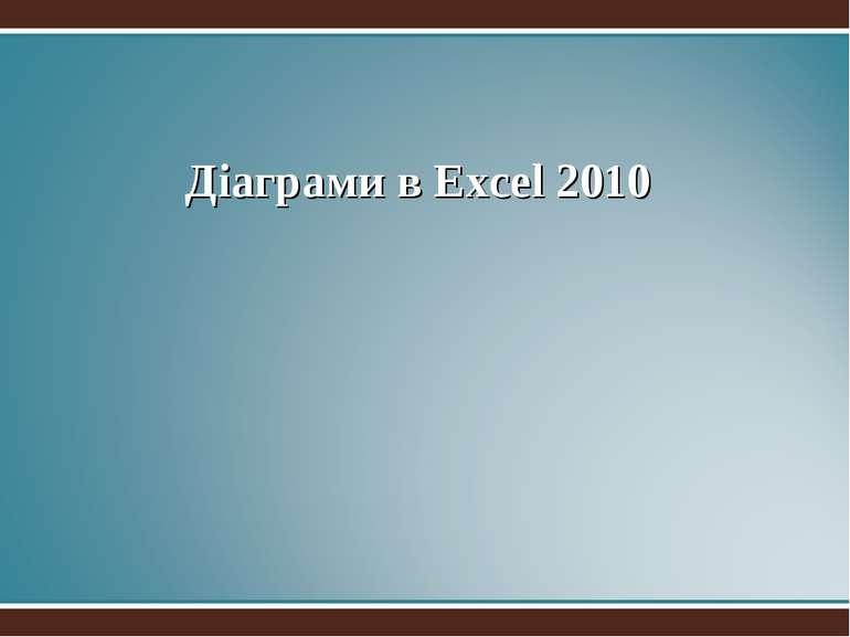 Діаграми в Excel 2010 Презентації Кравчук Г.Т.