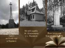 Його погруддя біля музею-садиби Музей-садиба М. Шашкевича у с. Підлисся Хрест...