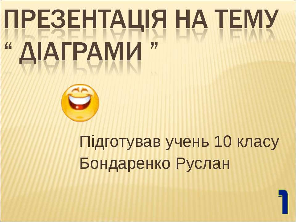 Підготував учень 10 класу Бондаренко Руслан