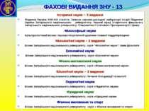 ФАХОВІ ВИДАННЯ ЗНУ - 13