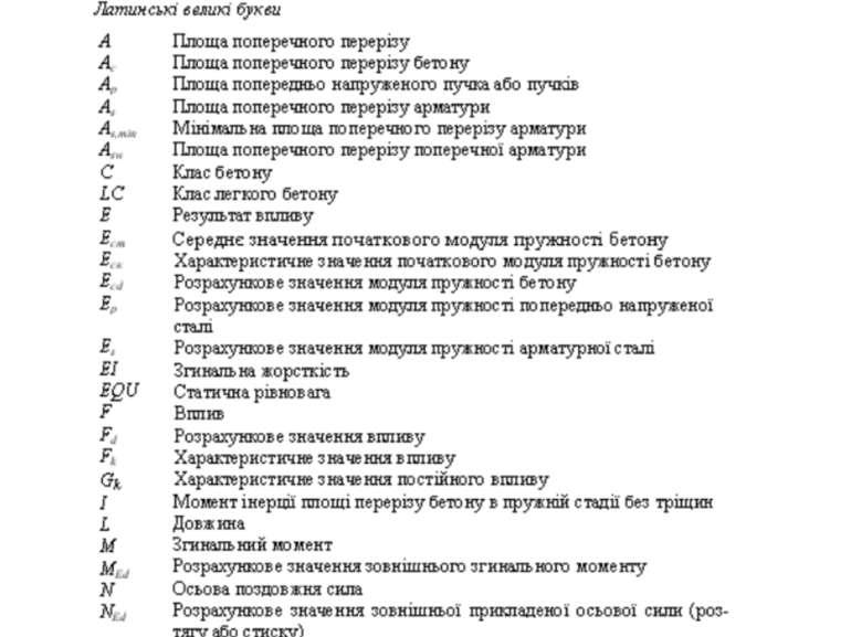 Новий нормативний документ з розрахунку залізобетонних конструкцій Нові позна...