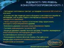 ВІДОМОСТІ ПРО РІВЕНЬ КОНКУРЕНТОСПРОМОЖНОСТІ-1 - Світлодіодні освітлювальні пр...