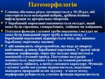 Патоморфологія Слизова оболонка різко, потовщується у 10-20 раз, ній спостері...