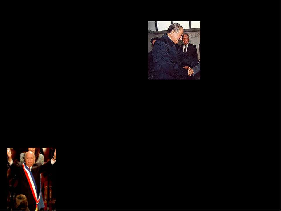 Демократична Чилі Патрісіо Айлвіну, лідеру партії християнських демократів, я...