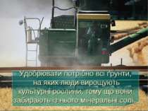 Удобрювати потрібно всі ґрунти, на яких люди вирощують культурні рослини, том...